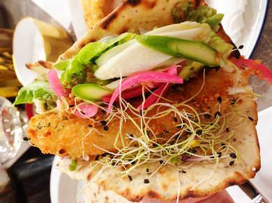 Fisk tacos med ramslök, tomat och avokado